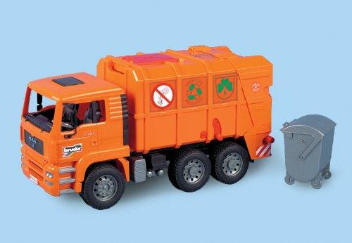 Bruder 2760 - MAN Müllwagen, orange
