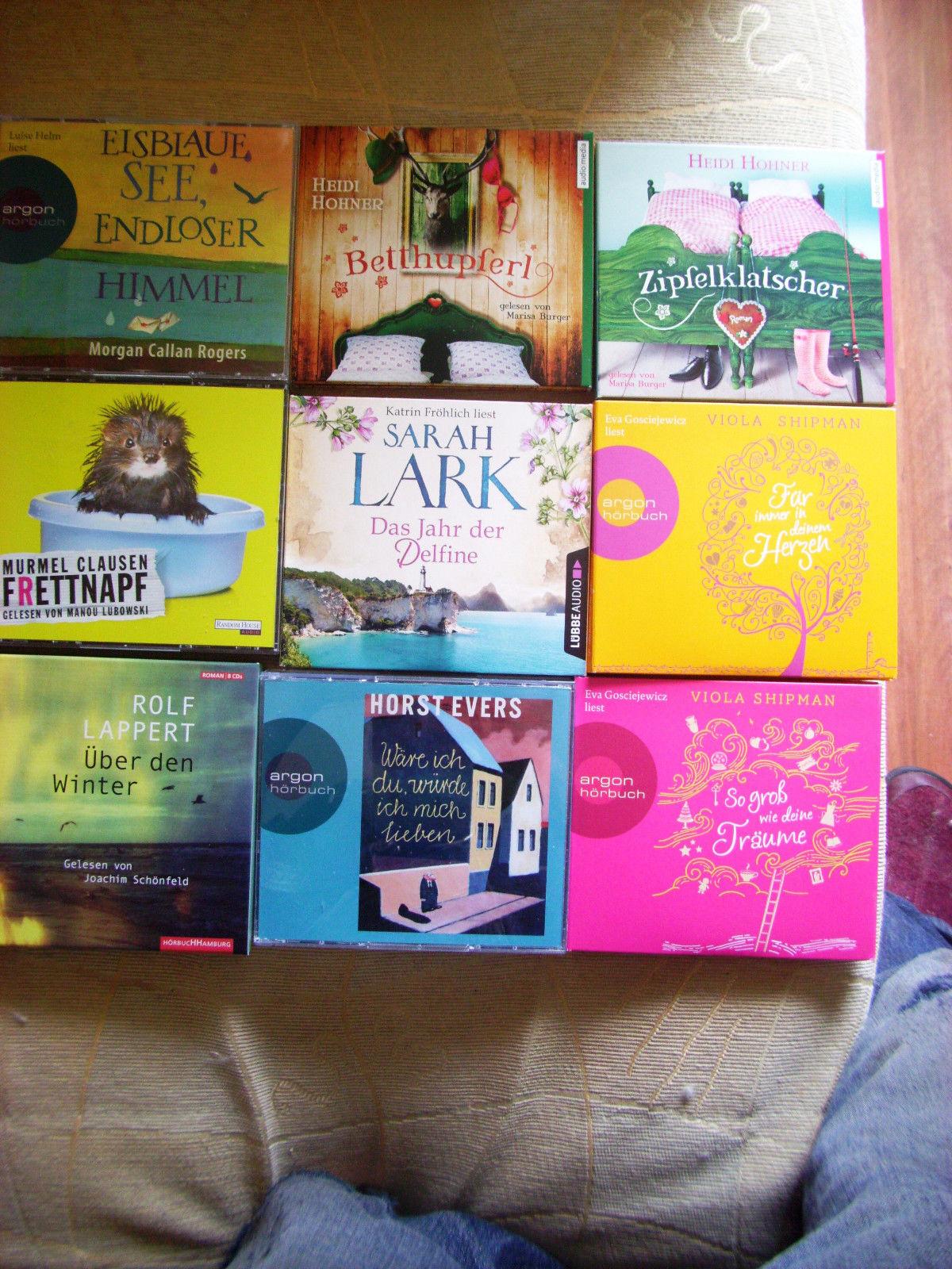 Paket Hörbücher 9 Stück Beletristik