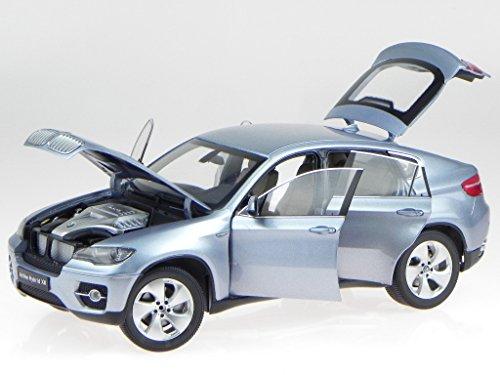 BMW e71 X6 2010 wasser blau Modellauto 8763bw Kyosho 1:18