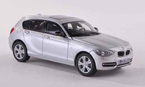 BMW 1er (F20), silber , Modellauto, Fertigmodell, Paragon 1:43