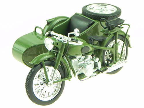 Imz M72 Ural Sidecar DDR Ostalgie Motorrad Modell Atlas 1:24