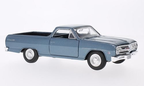 Chevrolet El Camino, metallic-blau, 1965, Modellauto, Fertigmodell, Maisto 1:24