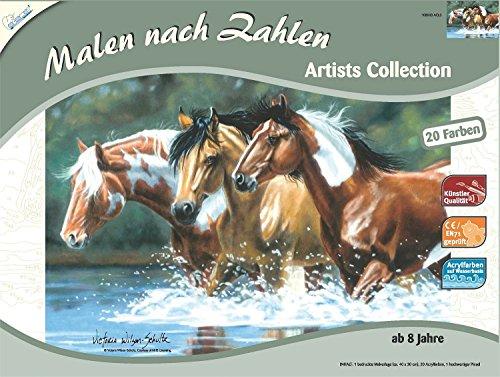 Mammut 108003 - Malen nach Zahlen Artists Collection - Pferde, ca. 40 x 30 cm