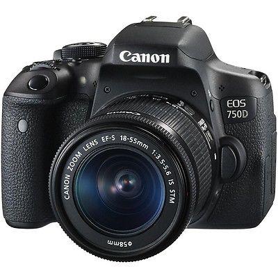 Canon EOS 750D DSLR-Kamera + EF-S 18-55mm IS STM Objektiv - Neu