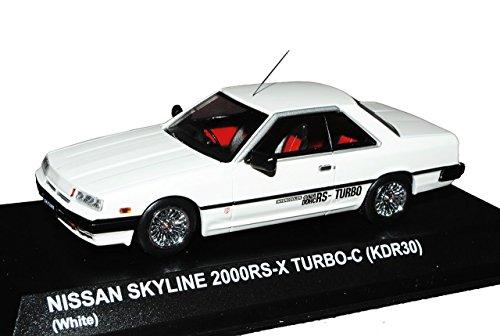 Nissan Skyline 2000 RS-X Turbo C KDR30 R30 Weiss 1981-1985 1/43 Kyosho Modell Auto mit individiuellem Wunschkennzeichen