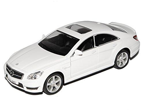Mercedes-Benz CLS 63 AMG C218 Limousine Weiss Ab 2011 1/32 Modellcarsonline Modell Auto mit individiuellem Wunschkennzeichen