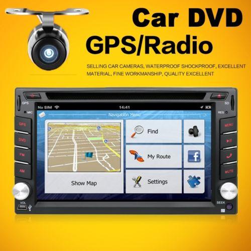 AUTORADIO 2 DIN MIT GPS NAVIGATION NAVI BLUETOOTH TOUCHSCREEN DVD CD USB SD MP3