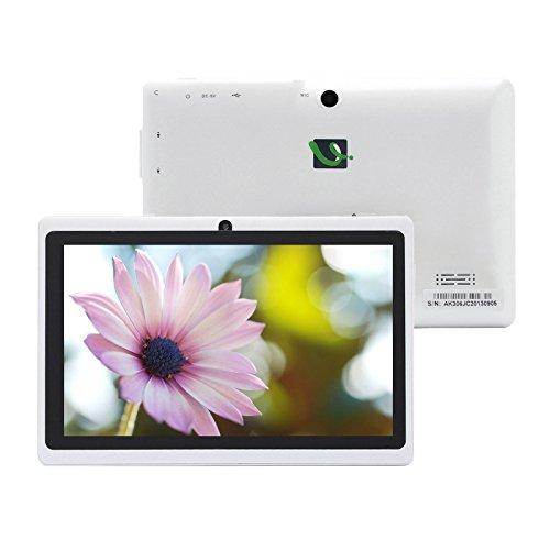 iRULU eXpro X1 7 Zoll Google Android Tablet PC,1024x600 Auflösung,16GB Nand Flash,WiFi,Spiele,Dual Kameras (512MB/16GB, Weiß)
