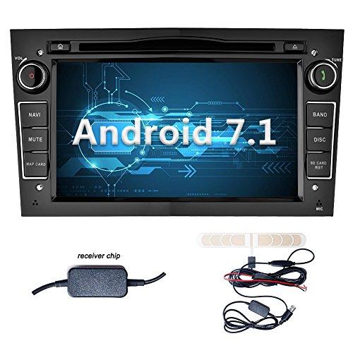 YINUO 7 Zoll 2 Din Android 7.1.1 Nougat 2GB RAM Quad Core Autoradio Moniceiver DVD GPS Navigation 1080P OEM Stecker Canbus für OPEL Vauxhall Astra (2004-2009) / Antara (2006-2011) / Vectra (2005-2008) / Corsa (2006-2010) / Zafira (2006-2010) / Meriva (200