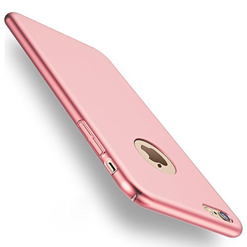 iPhone 6/6S Hülle, Joyguard iPhone 6/6S Case Schutzhülle [Vollschutz Gehärtetes Glas Bildschirmschutz] [Ultra Dünn] [Leicht] Anti-Kratzer Hard PC Rückdeckel Metall Textur Schutzhülle für iPhone 6/6S Case Cover - 4.7zoll- Rose Gold