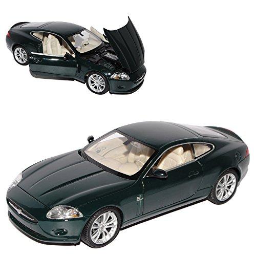 Jaguar XK150 Grün Coupe Ab 2006 1/24 Welly Modell Auto mit individiuellem Wunschkennzeichen