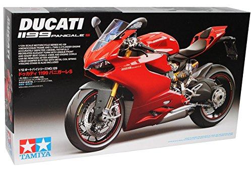 Ducati 1199 Panigale S Rot 14129 Kit Bausatz 1/12 Tamiya Modell Motorrad mit individiuellem Wunschkennzeichen