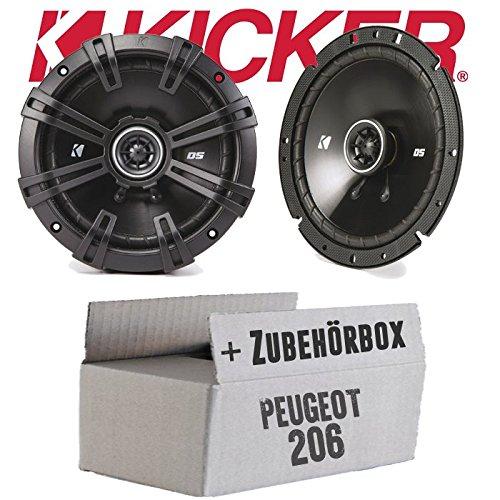 Peugeot 206 - Kicker DSC 670 | 16cm Koax Lautsprecher - Einbauset