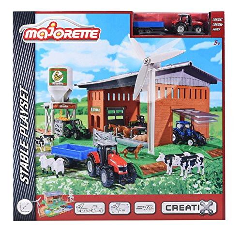 Majorette 212050007 - Creatix Farm Stable Playset, Autobahnen/Zubehör