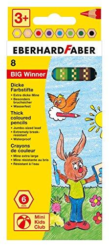 Eberhard Faber 518708 - Farbstift Big Winner 8er, Kartonetui