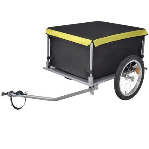 Fahrrad Anhänger Lastenanhänger Transportanhänger faltbar mit Abdeckung 65 kg