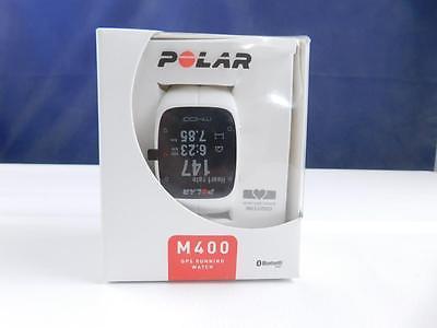 Polar M400 HR GPS Laufuhr inkl Brustgurt H7 weiß matt B-Ware Herzfrequenzmesser