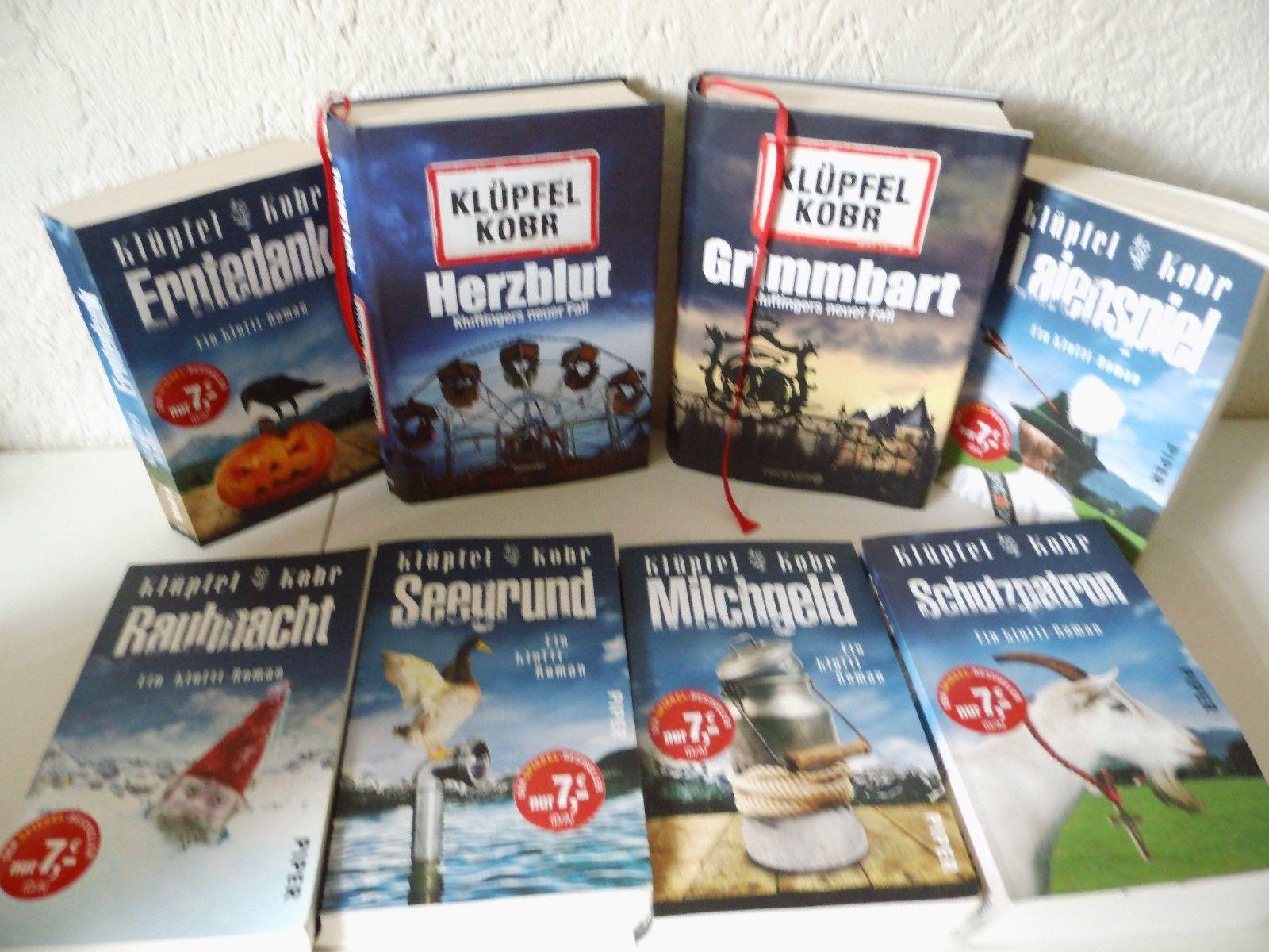 8 Stück, Klüpfel / Kobr Bayern Krimis.Kommissar Kluftinger.Kult Krimi.