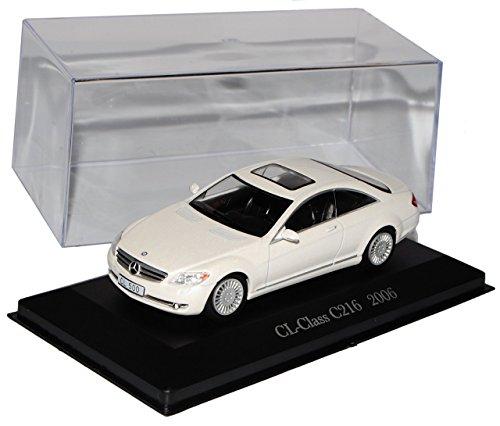 Mercedes-Benz CL-Klasse C216 Coupe Weiss 2006-2013 Inkl Zeitschrift Nr 69 1/43 Ixo Modell Auto mit individiuellem Wunschkennzeichen
