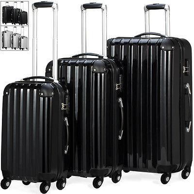 Monzana Reisekoffer Trolley Hartschalenkoffer Koffer Kofferset 360°Rollsystem