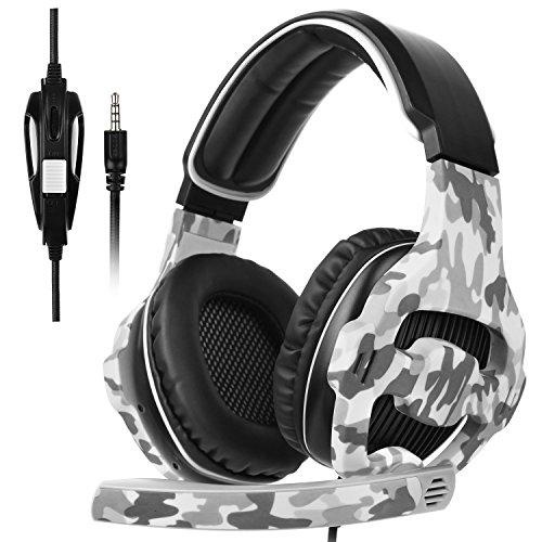 [SADES 2017 Multi-Platform Neue Xbox one PS4 Gaming Headset], SA810 Gaming Headsets Kopfhörer Gaming für neue Xbox one / PS4 / PC / Laptop / Mac / iPad / iPod (Schwarz & Camouflage)
