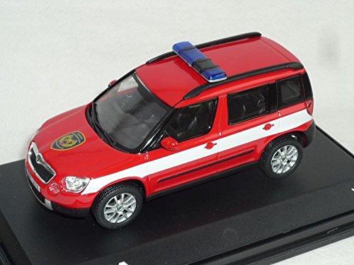 Skoda Yeti 2009 143ab-014xl Feuerwehr Rot Hasici 1/43 Abrex Modellauto Modell Auto