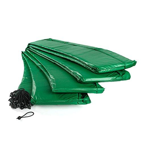 Ampel 24 Trampolin Randabdeckung   Ersatzteil reißfest & UV-beständig   Federabdeckung passend für Trampolin Ø 460 cm   Schutzrand grün