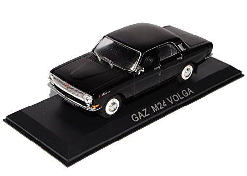 GAZ M24 Volga Limousine Schwarz 1/43 Modellcarsonline Modell Auto mit individiuellem Wunschkennzeichen