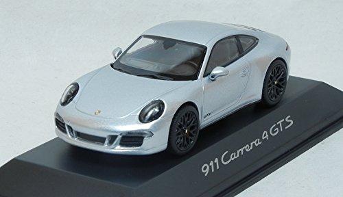Modellauto 1:43 Porsche 911 Carrera 4 GTS 991 Rhodium silber Minichamps