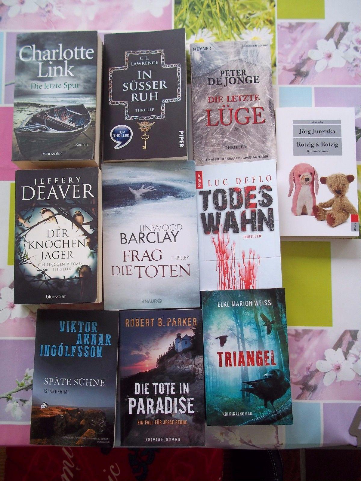 Bücherpaket Thriller Krimi 10 Bücher - guter Zustand