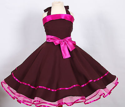 Mädchen Kleid zum Petticoat 50er Jahre Einschulung,Blumenmädchen Gr.134-140