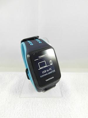 TomTom Runner 2 Cardio + Musik GPS Uhr, blau, L, Tracker Sportuhr Aktivitätentra