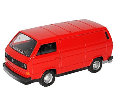 VW Volkswagen T3 Transporter Kasten Rot 1979-1992 ca 1/43 1/36-1/46 Welly Modell Auto mit individiuellem Wunschkennzeichen
