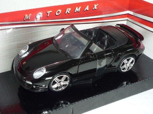Porsche 911 997 Turbo Cabrio Schwarz 2004-2012 1/24 Motormax Modellauto Modell Auto