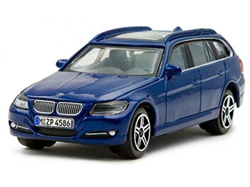 BMW e91 3er touring blau Modellauto 30220 Bburago 1:43