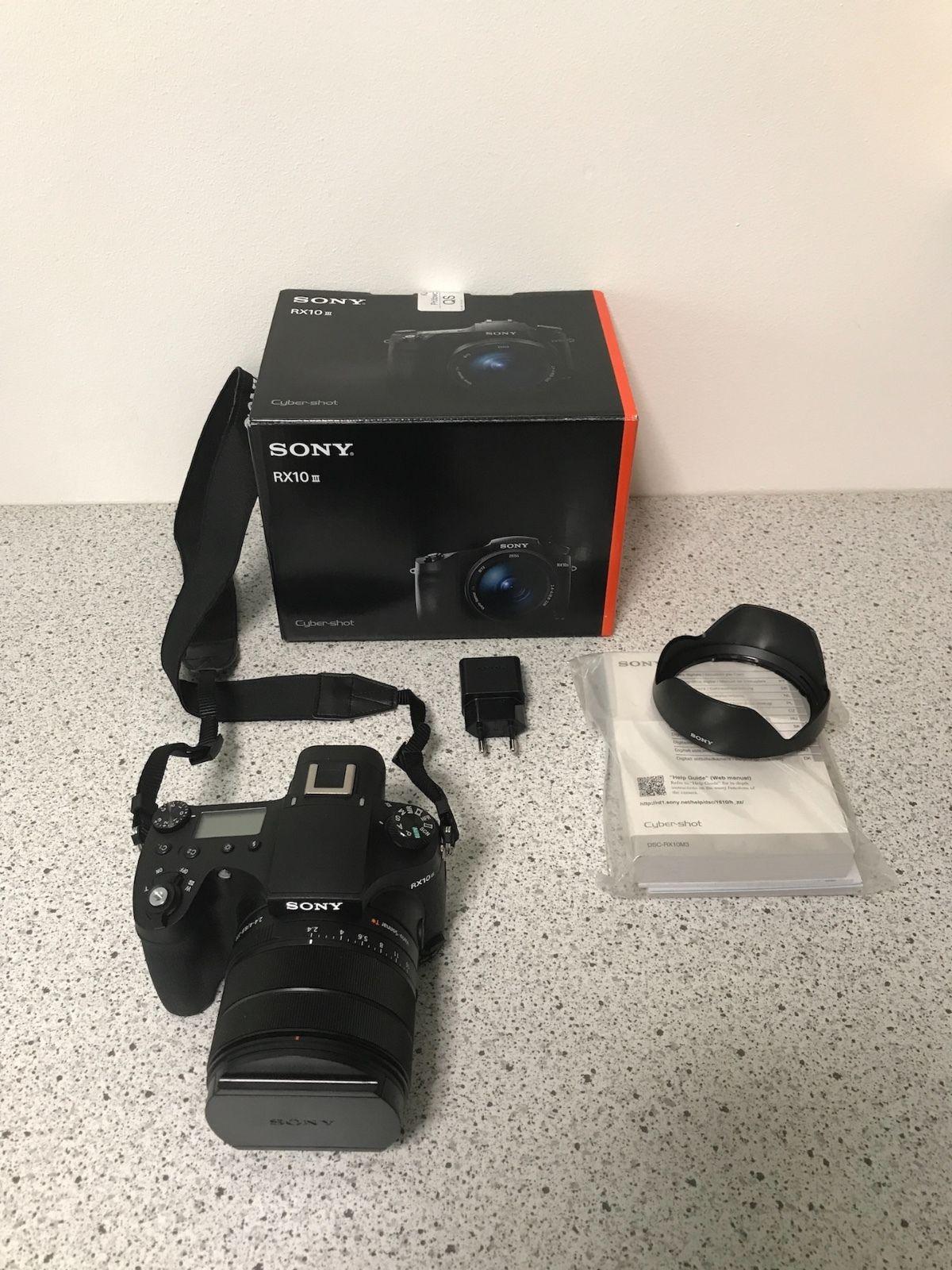 Sony DSC-RX10 III * Zeiss 24-600mm Objektiv * Bridgekamera * 4K * Wie Neu