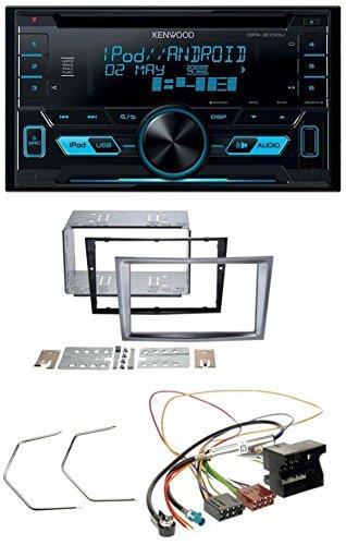 Kenwood DPX-3000U 2DIN USB AUX MP3 CD Autoradio für Opel Antara Astra H Zafira B charcoal-metallic