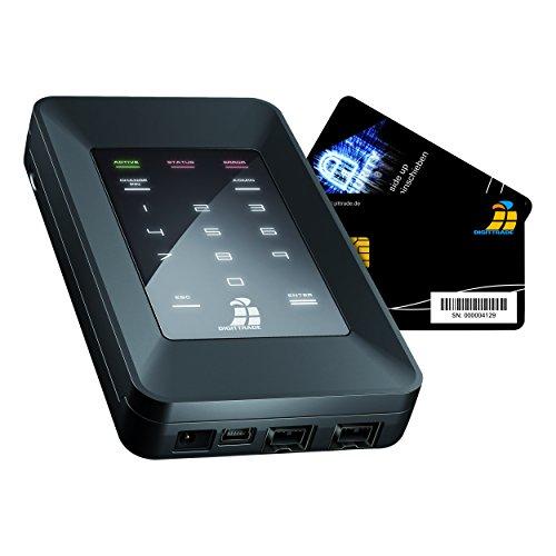 DIGITTRADE HS256S Externe Festplatte 2TB High Security mobile HDD (6,4 cm (2,5 Zoll), 5400rpm, USB 2.0) 256-Bit AES Verschlüsselung, Smartcard & PIN