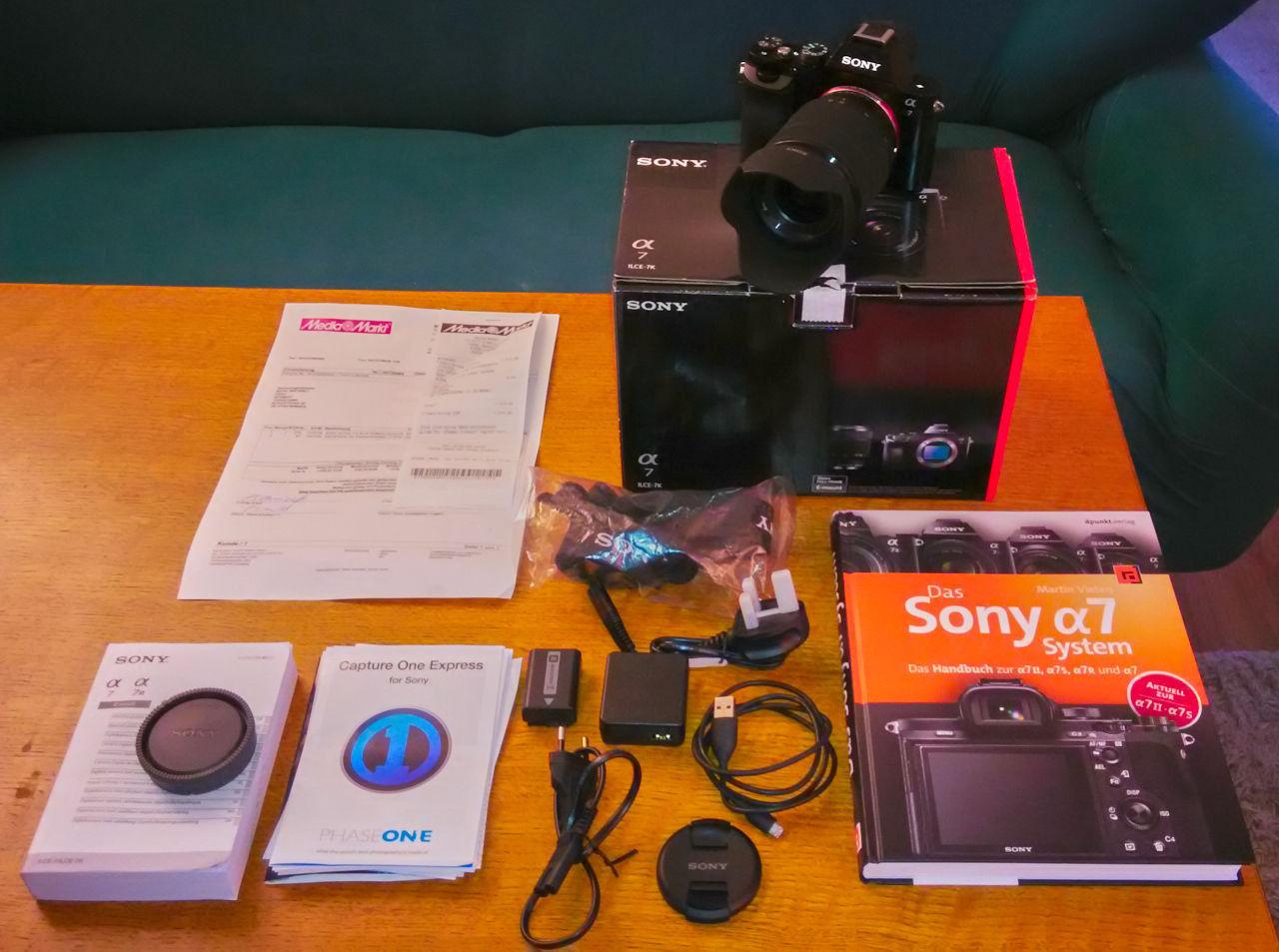 Sony Alpha A7 ILCE-7K+FE 28-70mm f/3.5-5.6, OSS, OVP, 4 Monate alt, Kaufbeleg