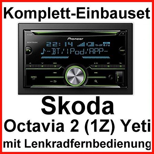 Komplett Set Skoda Octavia 2 Yeti 5L Pioneer FH-X730BT USB MP3 CD Autoradio
