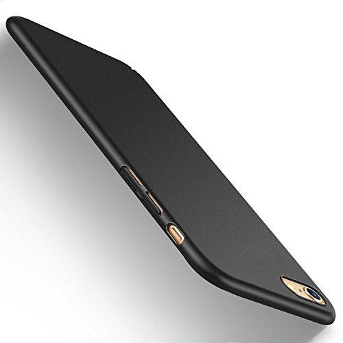 iPhone 6s Hülle, iPhone 6 case, HUMIXX [PZQ Seris] Hochwertigem Stoßfest Anti-Fingerabdruck Anti-Scratch FeinMatt FederLeicht Hülle Bumper Cover Schutz Tasche Schale Hard case für iPhone 6s 6 -Schwarz