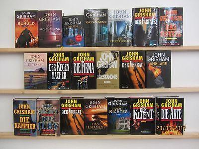 John Grisham 20 Bücher Romane Krimi Thriller Spionageromane Politthriller