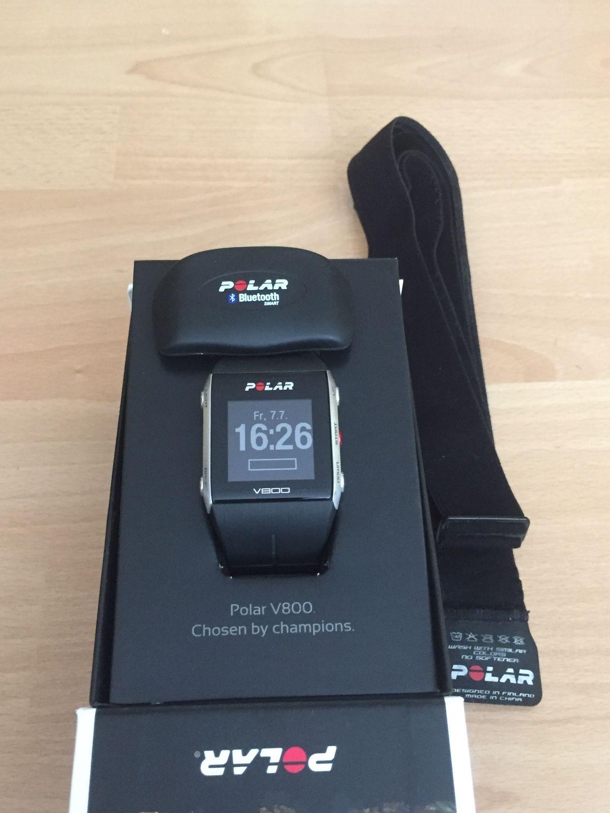 Polar V800 - GPS Sportuhr mit Brustgurt/Herzfrequenzsensor H7