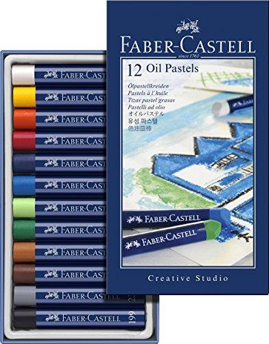 Faber Castell 127012 - Ölpastellkreide Studio Quality 12er Etui 12 verschiedene Farben