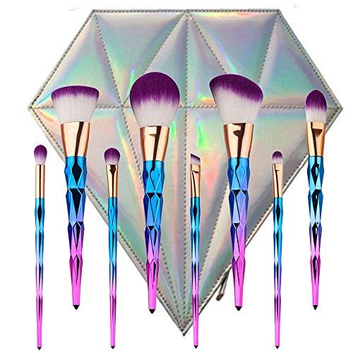 Make-up-Pinsel, YUMUN® 8pcs Einhorn Regenbogen Makeup Bürsten Pinsel Schminkpinsel Kosmetikpinsel Make Up Pinsel Kosmetik Set Beauty-Geschenke zum Muttertag