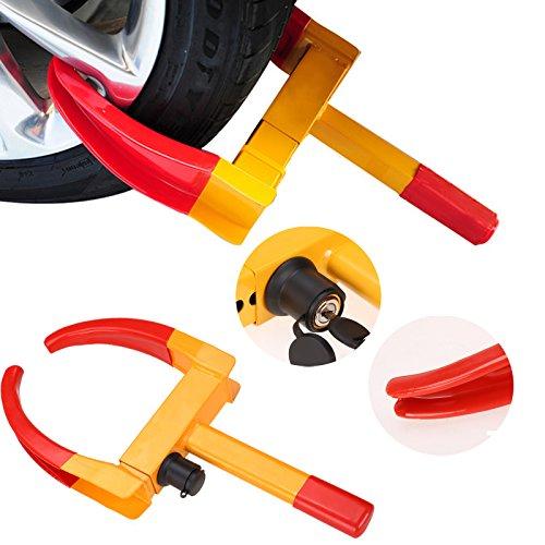 Ancheer Radkralle Reifenkralle Parkkralle Wegfahrsperre,Max. Reifenbreite von 315 mm Sicherheitsschloss inkl. 2 Schlüsseln