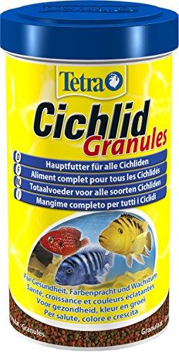 Tetra Cichlid Granules (Hauptfutter Mix für mittelgroße Cichliden, 2 verschiedene Granulate), 500 ml Dose