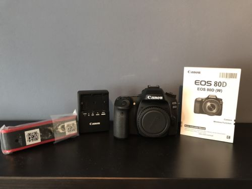 Canon EOS 80D 24.2 MP SLR-Digitalkamera - Schwarz (Nur Gehäuse)