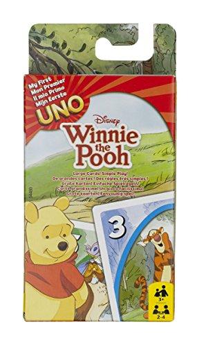 Mattel 54480 - UNO Junior Winnie Puuh, Kartenspiel (Sortiert Modell)