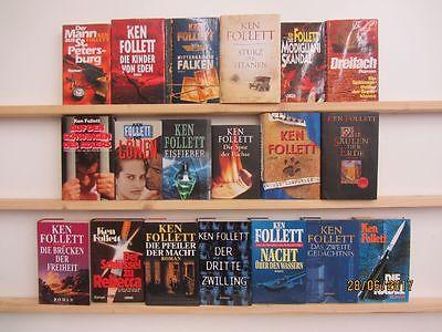Ken Follett 19 Bücher Romane Krimi Thriller historische Romane
